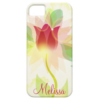 Girly iPhone5 Pink Abstract Watercolor Tulips iPhone 5 Cover
