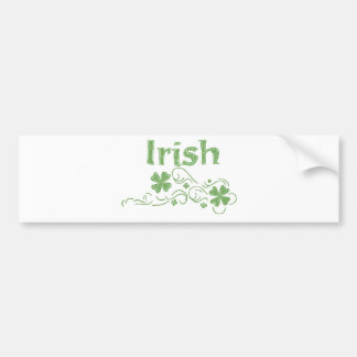 girly irish bumper sticker