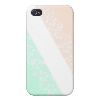 Girly Lace Mint&Pink iPhone 4 case