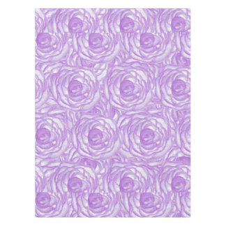 Girly Lavender Hand Painted Watercolor Roses Tablecloth