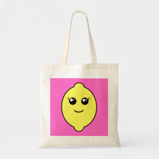 girly lemon tote bag