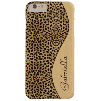 Girly Leopard Pattern Ornate Monogram Barely There iPhone 6 Plus Case