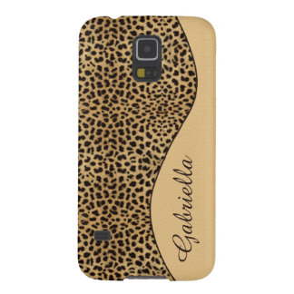 Girly Leopard Print Monogram GalaxyS5 Case