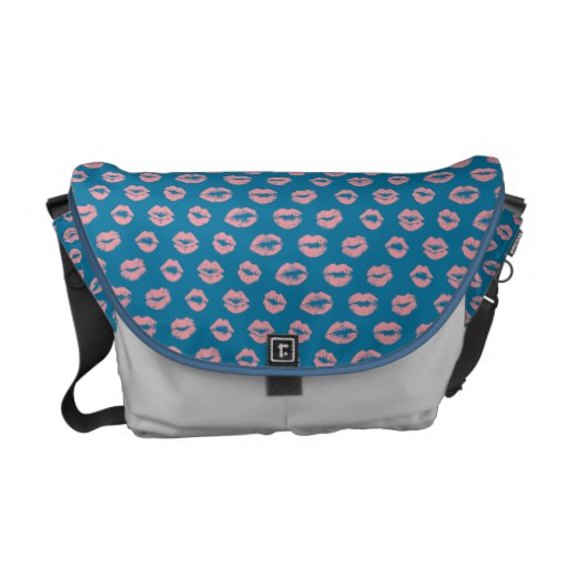 Girly Lipstick Pattern Bag Courier Bags