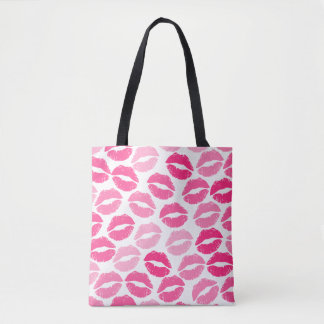 Girly lipstick tote bag
