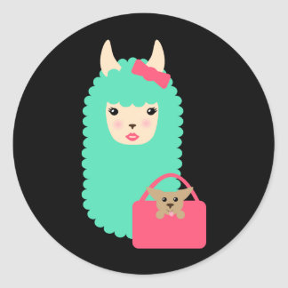 Girly Llama Emoji Stickers (with pup)