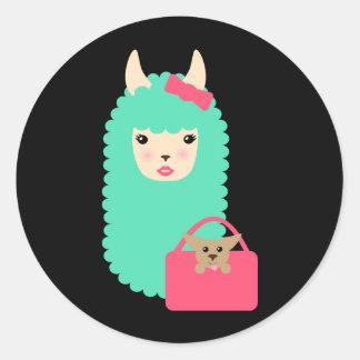 Girly Llama Emoji Stickers (with pup)