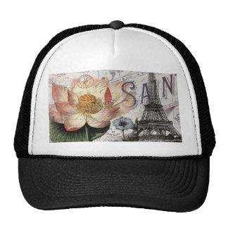 girly lotus flower vintage paris eiffel tower mesh hats