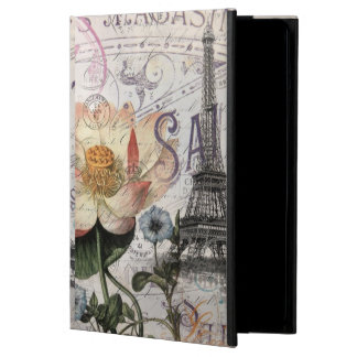 girly lotus flower vintage paris eiffel tower iPad air covers