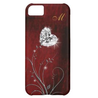 girly love heart diamond iPhone 5C case