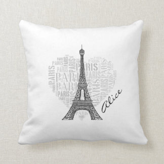 Girly Love Paris   Trendy Throw Pillow