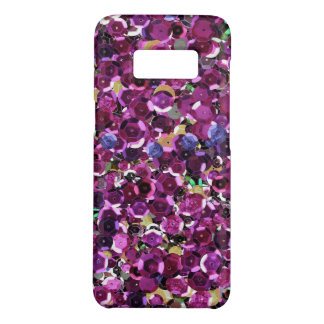 Girly Magenta Pink Faux Sequins Case-Mate Samsung Galaxy S8 Case