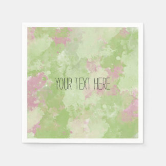 Girly Mint Pink Abstract Disposable Napkin