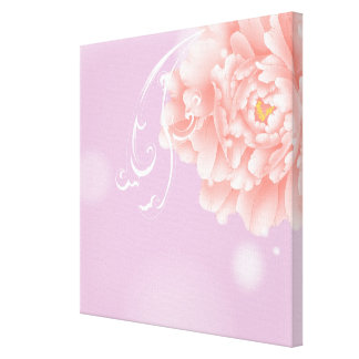 girly modern chic purple pink peony flower gallery wrapped canvas