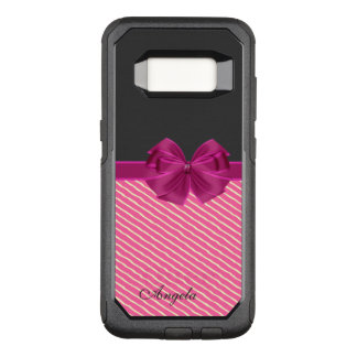 Girly Modern Chic Stripes-Personalized OtterBox Commuter Samsung Galaxy S8 Case