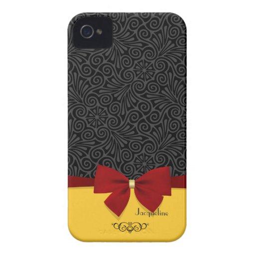 Girly Modern Elegant  Damask Blackberry Bold Case