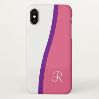 Girly Modern Monogram iPhone X Case