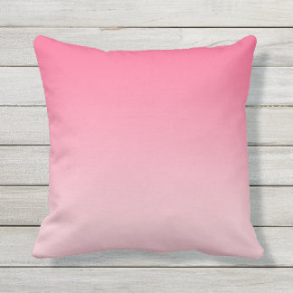 Girly Modern Pink Ombre Outdoor Cushion