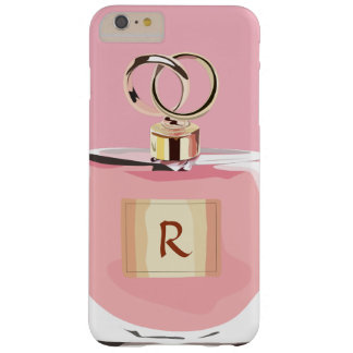 Girly Monogram Beauty Pink Stylish Perfume Bottle Barely There iPhone 6 Plus Case