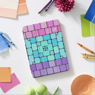 Girly Mosaic Tiles: Personalize with Your Initials