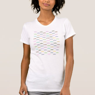 Girly mustache pattern tee shirt
