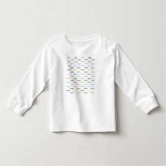Girly mustache pattern toddler T-Shirt