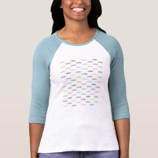 Girly mustache pattern tee shirts