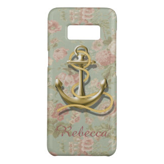 girly nautical anchor Shabby Chic floral Case-Mate Samsung Galaxy S8 Case