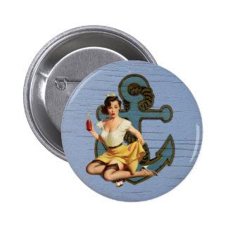 Girly nautical anchor vintage pin up girl
