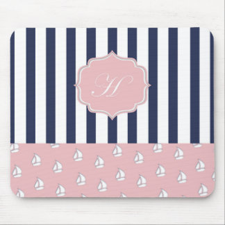 girly nautical mousepad
