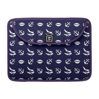 Girly nautical pattern MacBook pro sleeve