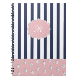 girly nautical Photo Notebook