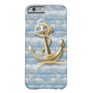 girly nautical preppy blue sky cloud anchor barely there iPhone 6 case