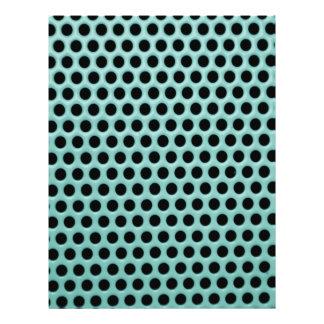 Girly Neon Green Black Polka Dots Pattern 21.5 Cm X 28 Cm Flyer