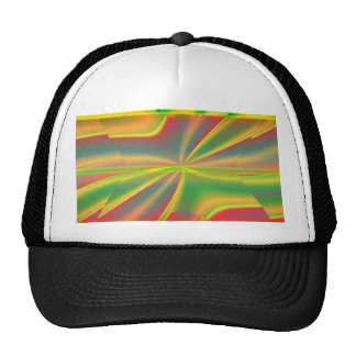 girly neon green lime abstract art fashion cap