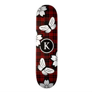 Girly & Nerdy Plaid w/Monogram Skateboards