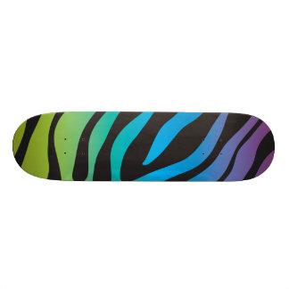 Girly New Multi colored Zebra Print Animal Print Custom Skateboard