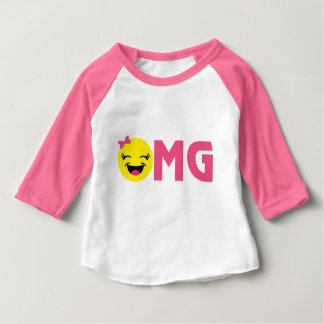 Girly OMG Emoji Baby T-Shirt