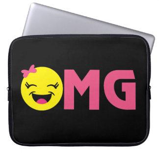 Girly OMG Emoji Laptop Sleeve