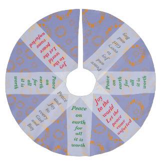 girly orange blue circle squares pattern dizzy art tree skirt