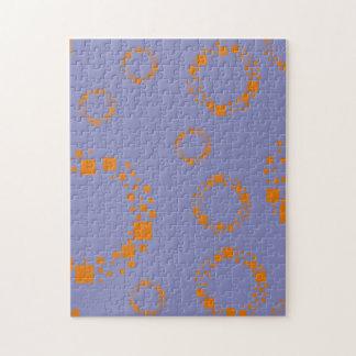 girly orange purple circle squares pattern dizzy puzzles