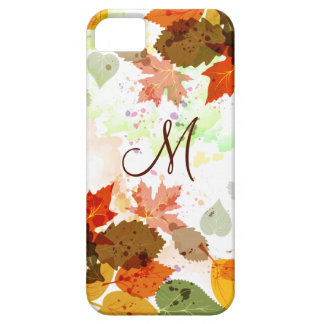 Girly Orange Yellow Green Autumn Leaves iPhone5 iPhone 5 Cases
