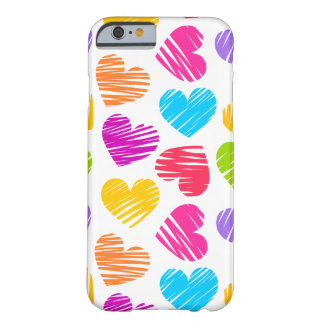 Girly pastel love hearts pattern barely there iPhone 6 case