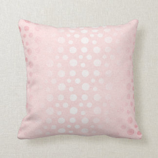 Girly Pastel Pink Rose Dots Dots Contemporary Throw Pillow