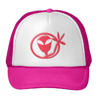 Girly Pink Alien Greeting Cap