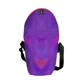Girly Pink and Purple Abstract Messenger Bags