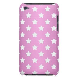 Girly Pink and White Stars Pattern Barely There iPod Covers