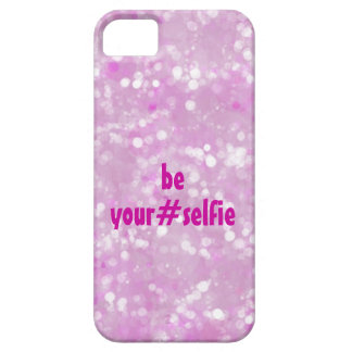 Girly Pink Be Yourself Selfie Hashtag Quote Case For The iPhone 5