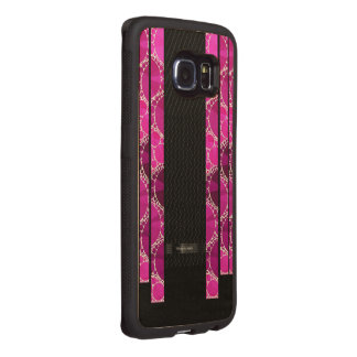 Girly Pink Bling Wood Phone Case