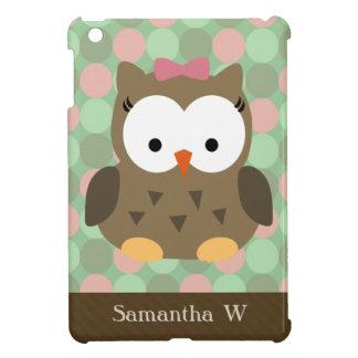 Girly Pink Bow Owl iPad Mini Case